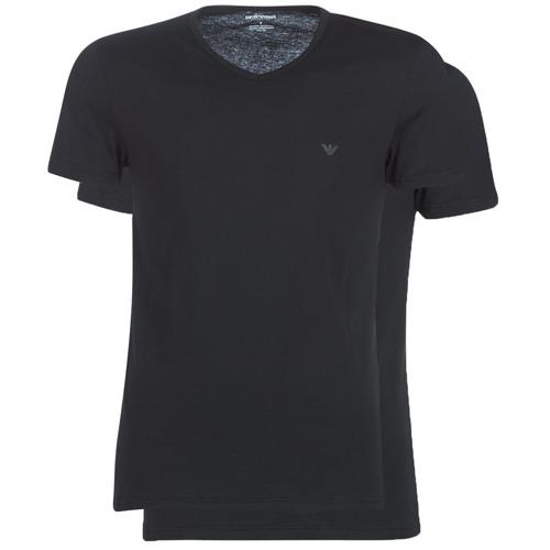 Clothing Men short-sleeved t-shirts Emporio Armani CC722-111648-07320 Black