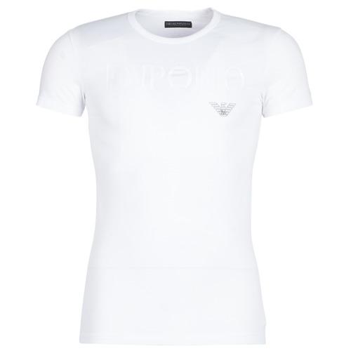 Clothing Men Short-sleeved t-shirts Emporio Armani CC716-111035-00010 White