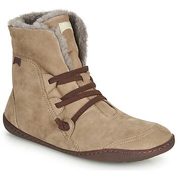 Shoes Women Mid boots Camper PEU CAMI Beige