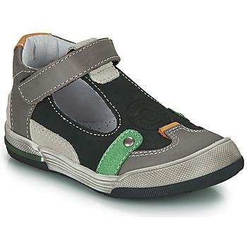 Shoes Boy Sandals GBB PERCEVAL Black / Grey