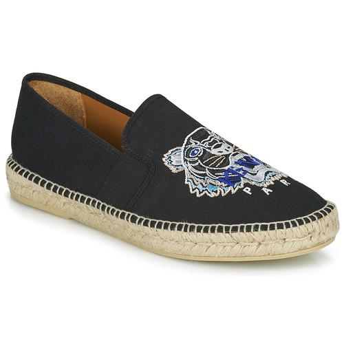 Shoes Men Espadrilles Kenzo ESPADRILLE ELASTIQUE TIGER HEAD Black