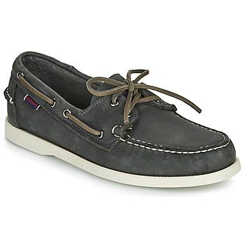 Shoes Men Boat shoes Sebago DOCKSIDES PORTLAND CRAZY H Grey