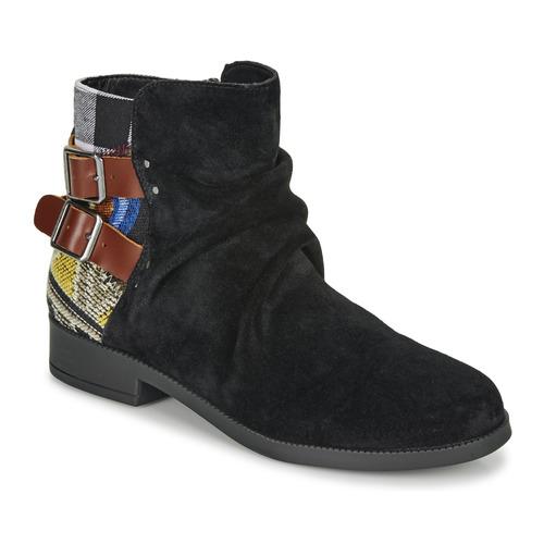 Shoes Women Mid boots Desigual OTTAWA PATCH Black