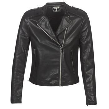 Clothing Women Leather jackets / Imitation leather Kaporal XUT Black