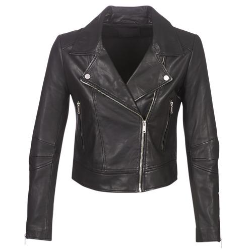 Clothing Women Leather jackets / Imitation leather Ikks BM48145-02 Black