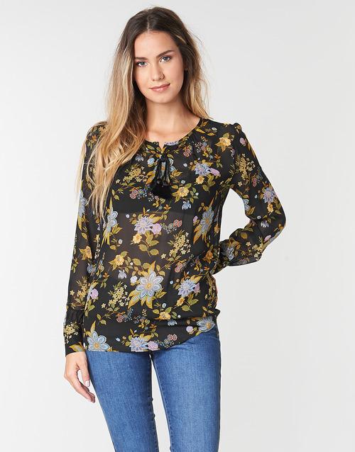 Clothing Women Tops / Blouses Ikks BP13125-02 Black / Multicolour