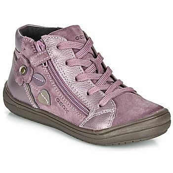 Shoes Girl Mid boots Geox J HADRIEL GIRL Prune