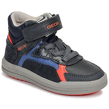 Shoes Boy Hi top trainers Geox J ARZACH BOY Blue / Orange
