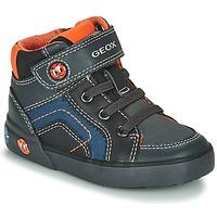 Shoes Boy Hi top trainers Geox B KILWI BOY Grey / Black