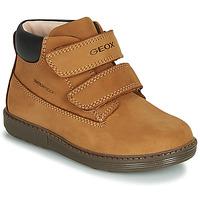 Shoes Boy Mid boots Geox B HYNDE BOY WPF Brown