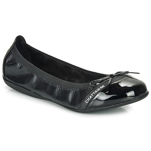 Shoes Women Flat shoes Chattawak CAPRICE Black