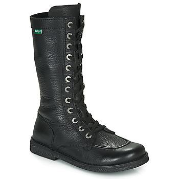 Shoes Women High boots Kickers MEETKIKNEW Black