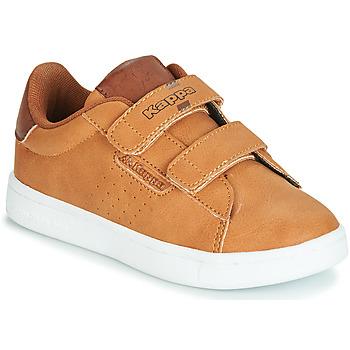 Shoes Boy Low top trainers Kappa TCHOURI Brown