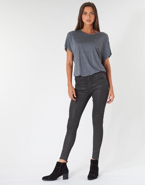 Clothing Women Skinny jeans G-Star Raw ASHTIX ZIP HIGH SUPER SKINNY ANKLE WMN Black