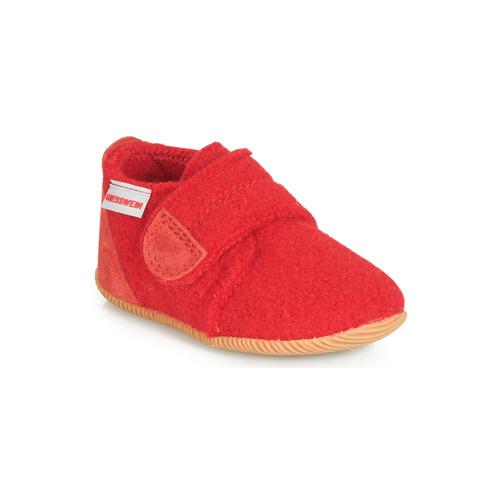 Shoes Children Slippers Giesswein OBERSTAUFFEN Red