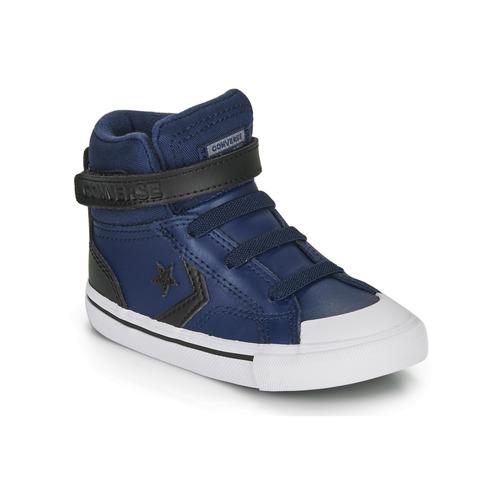 Shoes Children Hi top trainers Converse PRO BLAZE STRAP MARTIAN LEATHER HI Blue / Black