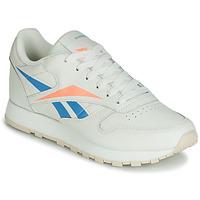 Shoes Women Low top trainers Reebok Classic CL LTHR Beige / Blue / Orange