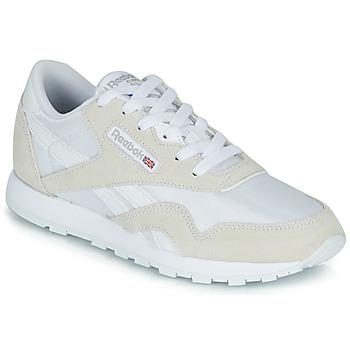 Shoes Children Low top trainers Reebok Classic CL NYLON J White / Beige