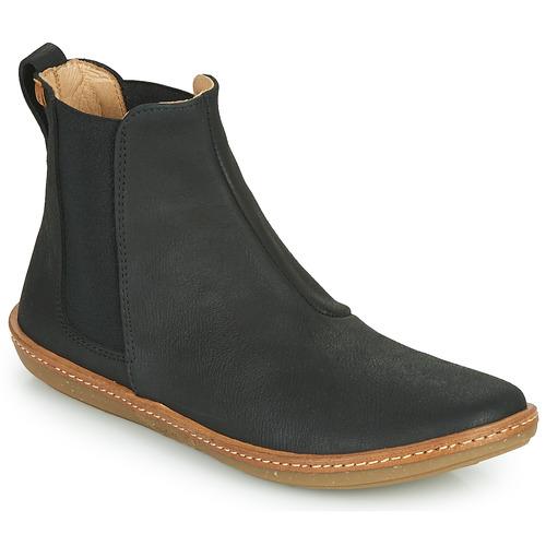 Shoes Women Mid boots El Naturalista CORAL Black