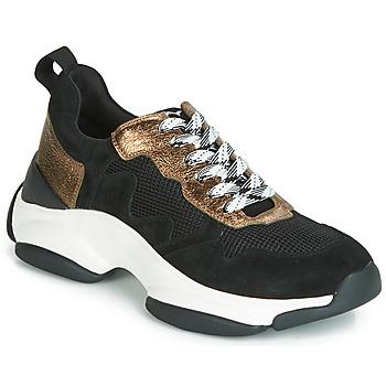Shoes Women Low top trainers Mam'Zelle HELIUM Black / Bronze