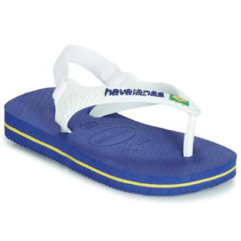 Shoes Boy Sandals Havaianas BABY BRASIL LOGO Marine