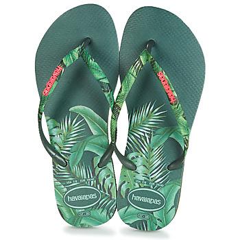 Shoes Women Flip flops Havaianas SLIM SENSATION Green