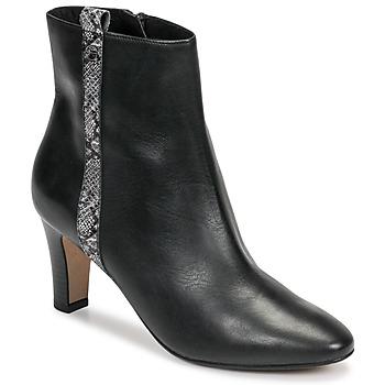 Shoes Women Ankle boots Tamaris MAFIATA Black / Reptile