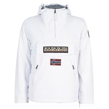 Clothing Men Parkas Napapijri RAINFOREST POCKET White