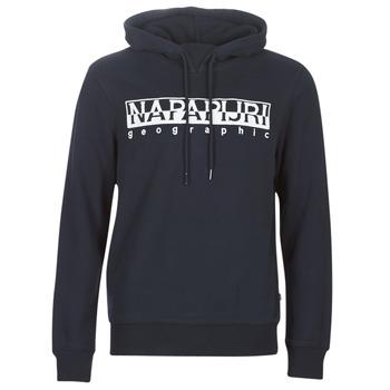 Clothing Men sweaters Napapijri BERBER HOODIE Marine
