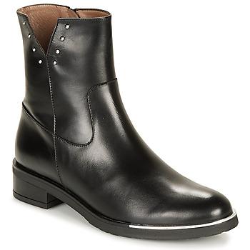 Shoes Women Mid boots Wonders C5437-OREGON-NEGRO Black