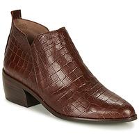 Shoes Women Mid boots Wonders E6022-COCO-MARRON Brown