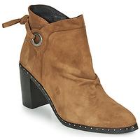 Shoes Women Ankle boots Philippe Morvan BATTLES V3 CHEV VEL Camel