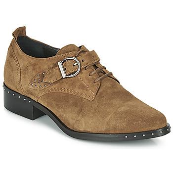 Shoes Women Derby Shoes Philippe Morvan SAND V4 CRTE VEL Camel