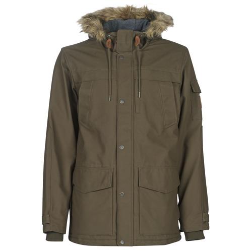 Clothing Men Parkas Quiksilver STORM DROP 5K Brown