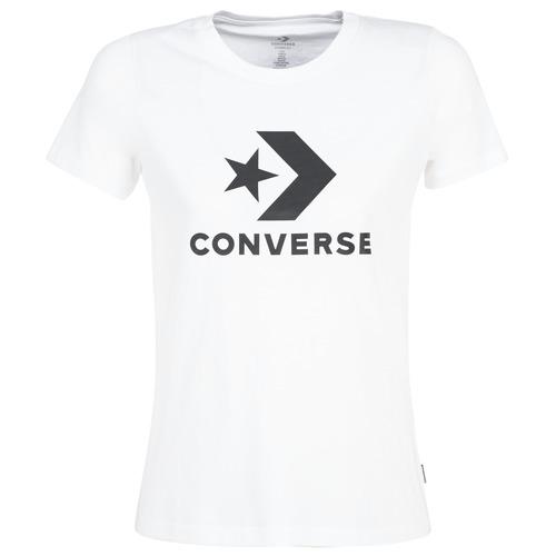 Clothing Women Short-sleeved t-shirts Converse STAR CHEVRON White