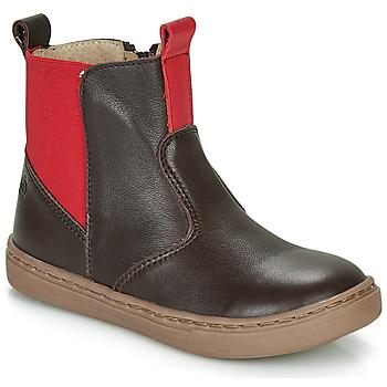 Shoes Boy Mid boots Citrouille et Compagnie JRYNE Brown / Red