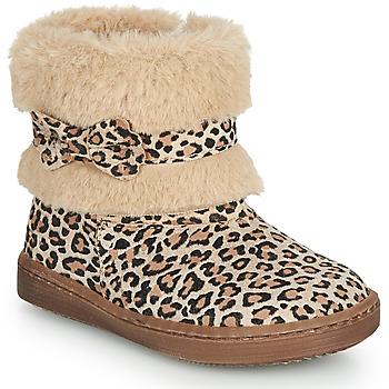 Shoes Girl Mid boots Citrouille et Compagnie LILIFA Camel / Leopard