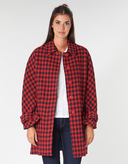 Clothing Women coats Benetton SIDUDEL Brown / Multicolour
