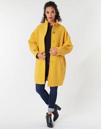 Clothing Women coats Benetton STORI Yellow