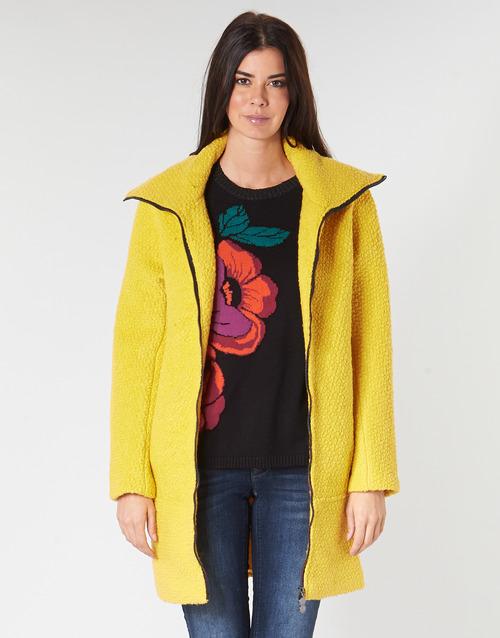 Clothing Women coats Desigual LAND Yellow
