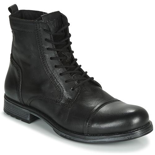 Shoes Men Mid boots Jack & Jones JFW RUSSEL LEATHER Black