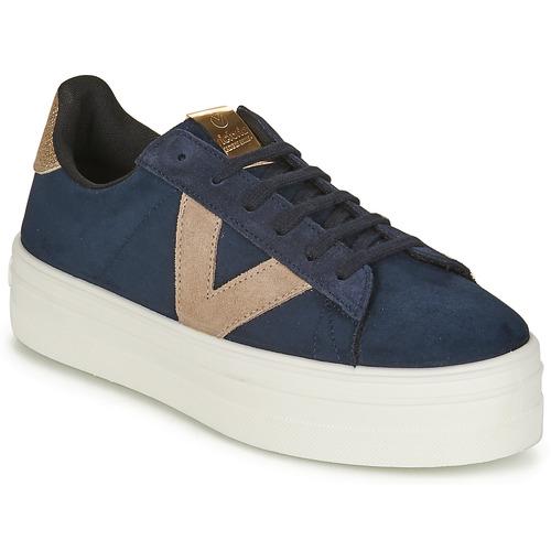 Shoes Women Low top trainers Victoria BARCELONA DEPORTIVO Marine / Beige