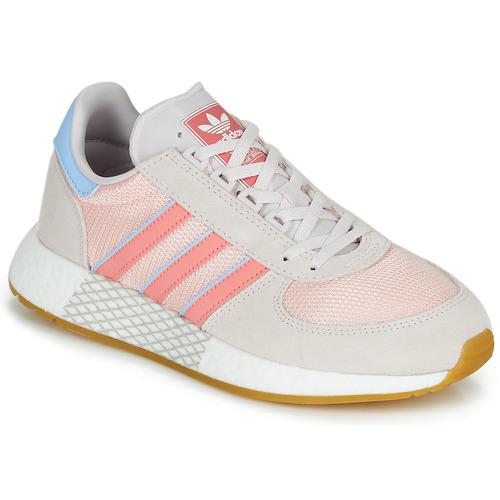 Shoes Women Low top trainers adidas Originals MARATHON TECH W Grey / Pink