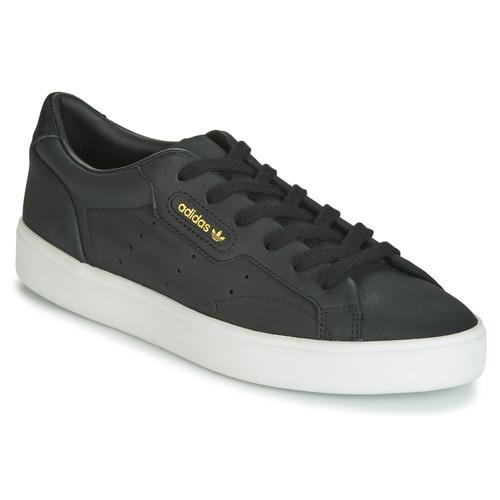 Shoes Women Low top trainers adidas Originals SLEEK W Black