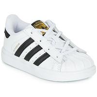 Shoes Children Low top trainers adidas Originals SUPERSTAR I White / Black