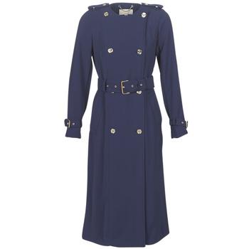 Clothing Women Trench coats MICHAEL Michael Kors COLLARLESS TRENCH Marine
