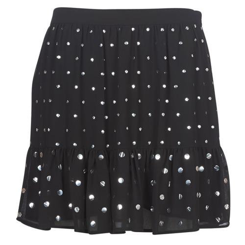 Clothing Women Skirts MICHAEL Michael Kors NAIL HT FLOUNCE SKIRT Black