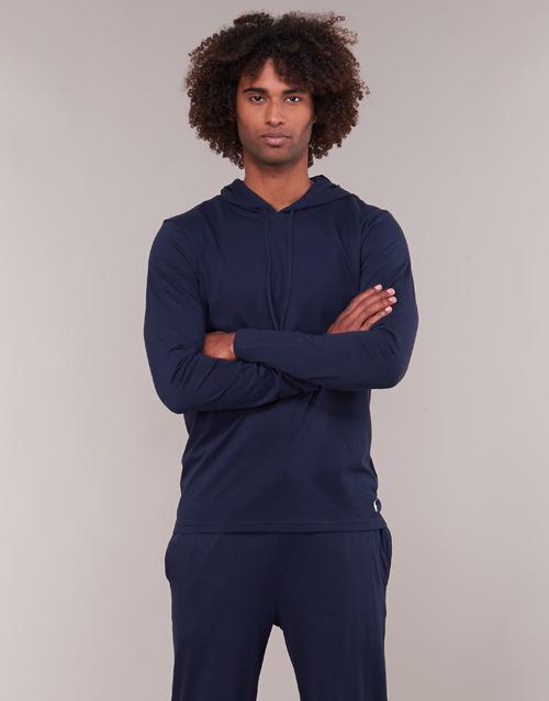 Clothing Men sweaters Polo Ralph Lauren L/S HOODIE-HOODIE-SLEEP TOP Marine