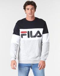 Clothing Men sweaters Fila STRAIGHT BLOCKED CREW Grey / Black
