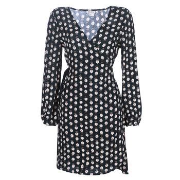 Clothing Women Short Dresses Billabong LOVE WARRIOR Black